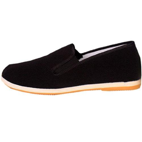 Mens Comfortable Kungfu Taichi Hip-hop Wushu Old Beijing Cotton Cloth Walking (Hip Hop Clothing Shoes)