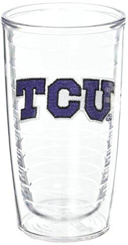 Tervis Texas Christian University Emblem Tumbler (Set of 2), 16 oz, Clear