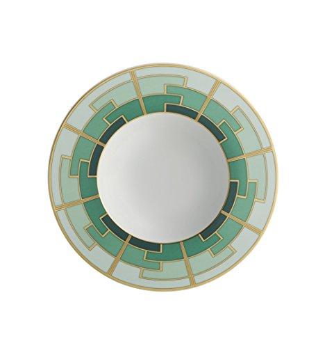 Vista Alegre Emerald Soup Plate (Bowl Vista Soup Rimmed)