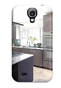 [wLyoiGb13884hFryo]premium Phone Case For Galaxy S4/ Modern Kitchen With Open Layout And Island Tpu Case Cover