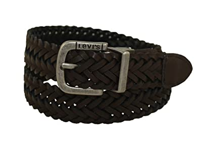 Levi's Big Boys' Levi'S Reversible Black To Brown Braid With Logo Buckle