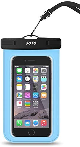 JOTO Universal Waterproof Pouch Cellphone Dry Bag Case for iPhone 12 Pro Max 11 Pro Max Xs Max XR X 8 7 6S Plus SE, Galaxy S20 Ultra S20+ S10 Plus S10e /Note 10+ 9, Pixel 4 XL up to 7″ -Blue