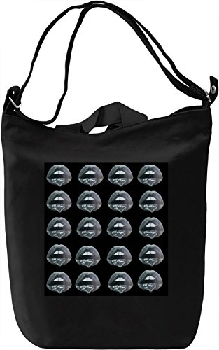 Lips print Borsa Giornaliera Canvas Canvas Day Bag| 100% Premium Cotton Canvas| DTG Printing|