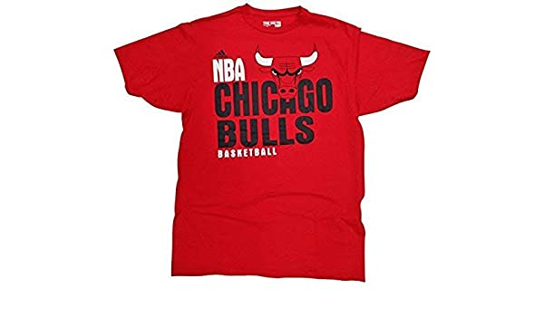 adidas Chicago Bulls Mens Red Chicago Bulls Draft Day T ...