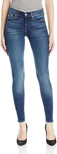 7 For All Mankind Women's Skinny Mid Rise Jeans