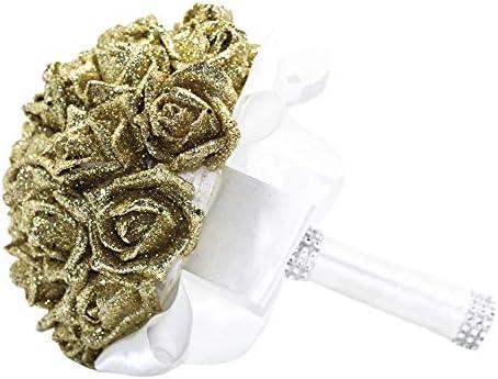 Wffo Flores Artificiales, Rosas de Cristal, Perlas para Dama de ...