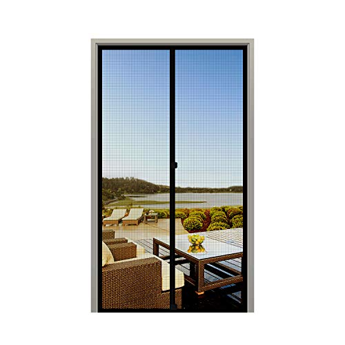MAGZO Screen Door Magnets 30 x 80, Durable Fiberglass Door Mesh with Full Frame Hook&Loop for Entry Door Fits Door Size up to 30