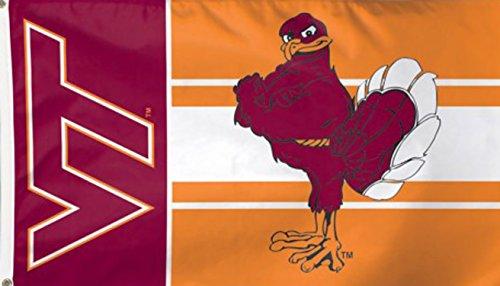 Virginia Tech Hokies Flag 3' x 5' - Orange
