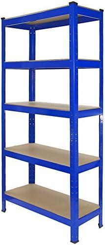 TRax Stellingkast75x30x150 cmBlauw100 BoutloosDraagkracht 150 kg per plankopbergrek metaal