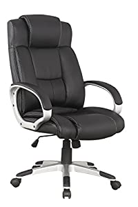 presidential office chair. Manhattan Comfort Presidential Washington Collection Bonded Leather Height Adjustable Swivel Ergonomic Office Chair, Set Of 2, Black Chair I