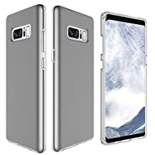 """Galaxy Note 8 Case, MCUK [Shockproof] High Impact Hybrid Armor Defender Silicone Rubber Hard Skin Cover Dual Layer Protective Case for Samsung Galaxy Note 8 6.3"""" 2017 Release (Grey)"""
