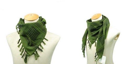 Unisex Fashion Women Men Arab Shemagh Keffiyeh Palestine Scarf Shawl Wrap (Olive Green)