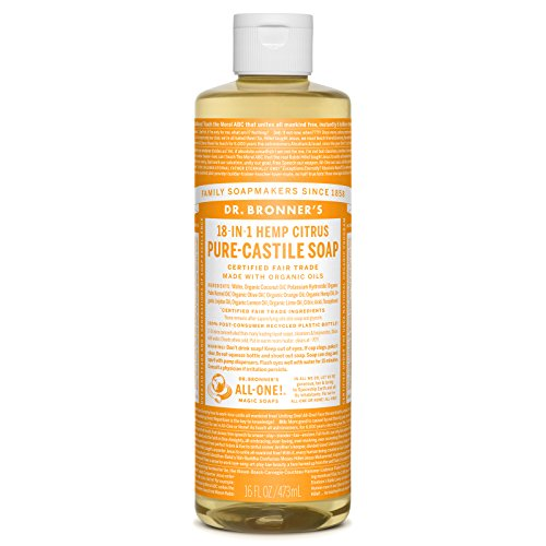 Dr Bronner Orange Soap (Dr. Bronner's Pure-Castile Liquid Soap - Citrus 16 ounce)