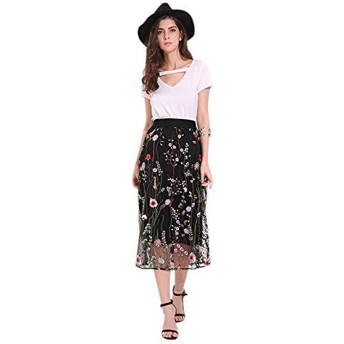 super popolare 52d37 a0345 Cikuso Gonne lunghe da donna vintage moda elegante gonna in ...