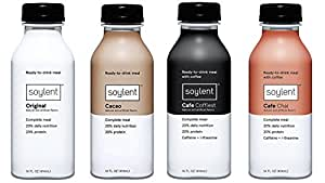 Soylent Bundle: Original, Cacao, Chai and Coffiest/Cafe Mocha Flavors, Nutritionally Complete Ready to Drink Beverage, 14 ounce, 1 Bottle Per Flavor