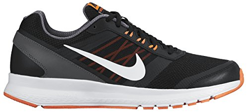 Nike Air Relentless 5 - Calzado Deportivo para hombre Negro / Blanco / Naranja / Gris (Black/White-Hypr Orng-Drk Gry)