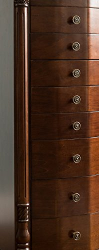 Hives and Honey 2417-654 Henry IV Jewelry Armoire, 39.75'' H x 17.25'' W x 11.6'' D, Walnut by Hives and Honey (Image #11)