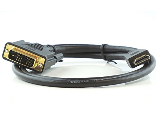 25Ft (25 Feet) HDMI Male to DVI-D Single Link Male 28AWG Cable Compatible w/Ethernet & Gold Connectors by AYAGROUP