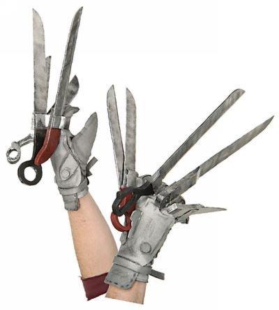 Edward Scissorhands Costume Hands (Rubie's Costume Men's Edward Scissorhands Deluxe Glove Set, Multicolor, One Size)