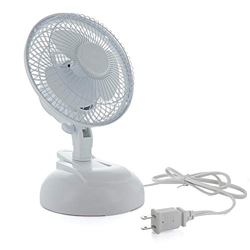 Ram-Pro Clip Fan Mini Personal Desk Fan Portable Silent Speed Settings Adjustable Tilt Operation Carrying Handle ETL Listed Stroller Baby Table Fan for Home and Traveling (White)