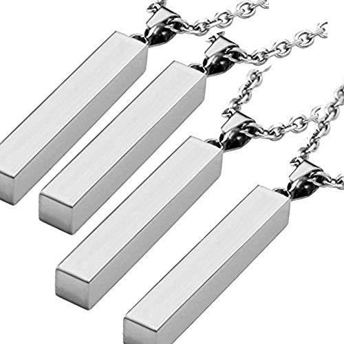 NationInFashion 4 x Stainless bar Necklace Blank | bar Stamping Blank | Stainless Stamping Blank| bar Necklace Stainless Steel| Stainless Stamping ()