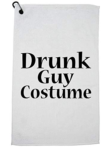 Hollywood Thread Funny Drunk Guy Costume Golf Towel Carabiner Clip