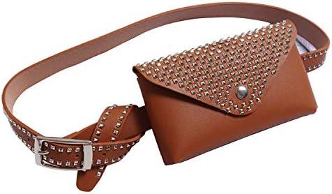 538cc04867bc Amazon.com   Belt Bag Fashion Leather Fanny Pack Brown Waist Bags Crossbody  Purse Pocket Stylish For Girls Women Brown   Waist Packs