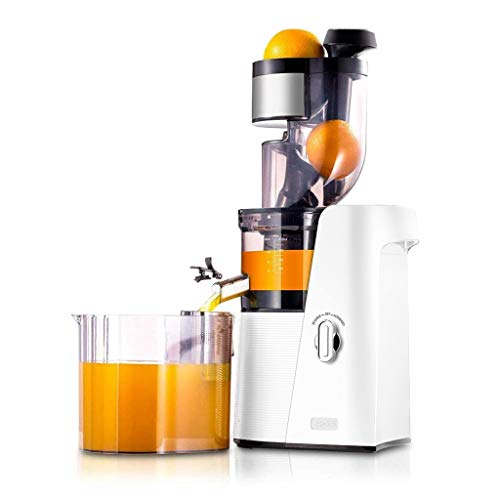 SKG Slow Masticating Juicer Extractor with Wide Chute (240W AC Motor, 43 RPMs, 3 Inches Big Mouth) Anti-Oxidation Lower Noisy - Vertical Masticating Cold Press Juicer-Champagne