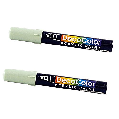 JAM PAPER Chisel Tip Acrylic Paint Marker - Celadon - 2/Pack