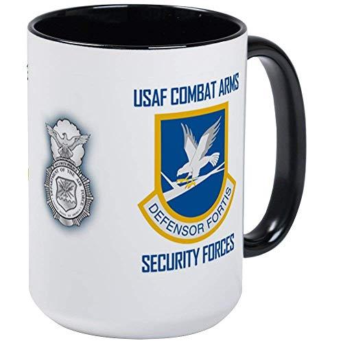 U.S. Air Force Security Forces Mug - 11oz RINGER Coffee Mug, Ceramic 11oz Coffee Cup