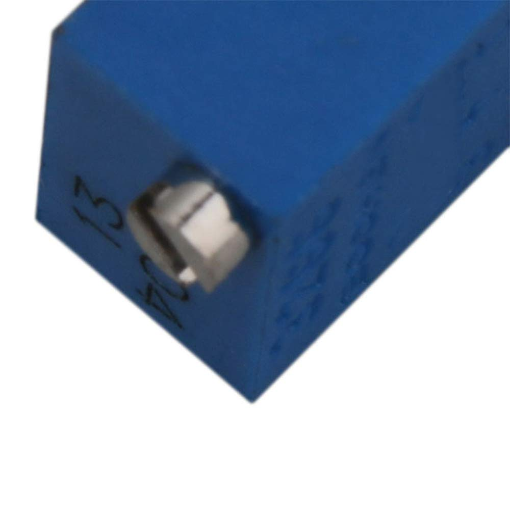 Mxfans 10 Pieces 200K Trimmer Potentiometer Multi Turn Precision 14x7x5mm Blue
