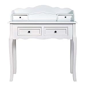 Rebecca mobili consola blanca escritorio cl sico 4 for Regalo gratis mobili