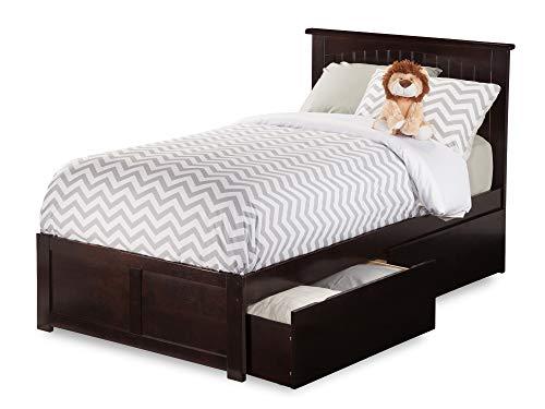 Best Captains Bed With Trundle Espressos - Atlantic Furniture AR8212111 Nantucket Platform Bed