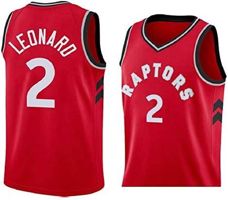 ラプターズ#2レナードバスケットボールジャージメンズベストスポーツウェア