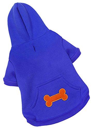 (Voyager Windproof Hoodie Pullover Pet Jacket - Royal Blue,)
