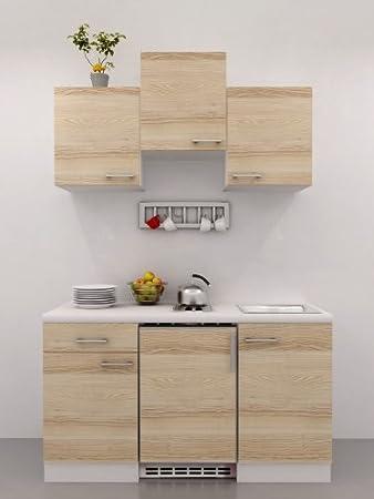 Single küche mit geräten akazie 150 cm arezzo