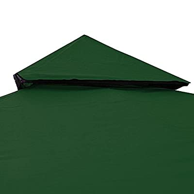 10'x10' 2-Tier Green Waterproof Gazebo Top Replacement UV30+ 200g/sqm Outdoor Patio Canopy Cover For Events Wedding Parties Craft Shows Music Festivals: Garden & Outdoor