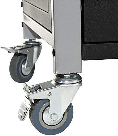 BRASERO - Plancha Lola sur Chariot équipé 3 Feux à gaz - Jusqu'à 12 convives - Surface de Cuisson 68,5 x 35,50 cm - 7,2 KW Récupérateur de Graisse