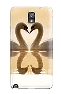 New Style Premium Tpu Loving Swans Cover Skin For Galaxy Note 3