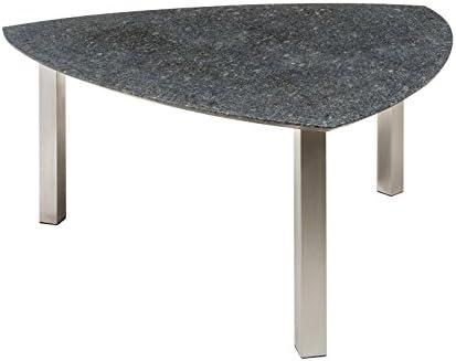 Amazon De Kolle Granit Gartentisch Pearl Grey Satiniert Mit