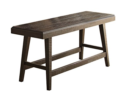 Homelegance Fenwick 60'' Rustic Counter Height Dining Bench, Gray by Homelegance