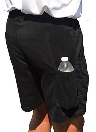 TROD Men's Cargo Short with Side Pocket Black 40   Amazon.com