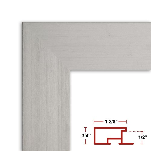 40 x 54 Satin Silver Poster Frame - Profile: #99 Custom Size Picture Frame by Poster Frame Depot
