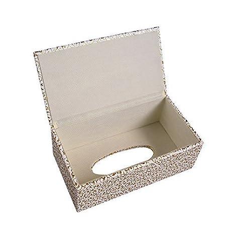 Gr/ün 25*14*9.5cm Zedtom PU-leder Kosmetikt/ücherbox Taschentuchspender