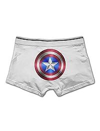 Men's Stretch Underwear Boxer Brief Captain America Super Hero