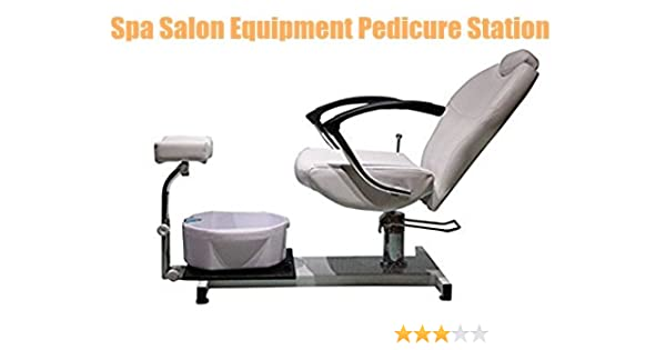 Beauty4Star Nail Spa Furniture Pedicure Spa Station Unit Include Hydraulic Chair & Foot Massage Basin & Foot Rest
