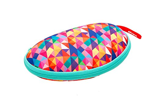 ZIPIT Colorz Box Glasses Case, Colorful Triangles