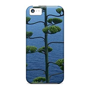 Durable Amazing Tree Overlooking Rocks A Boat At Sea Back Case/cover For Iphone 5c