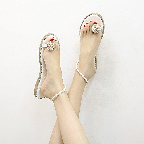 Ymfie Señoras Los Imitación Con Sandalias Planos A Punta De Las Moda Personalidad La Abierta Antideslizantes Pies Diamantes XRwrTXvq