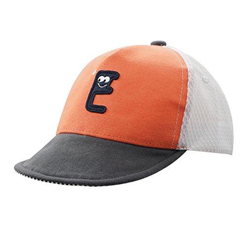 Home Prefer Toddler Baseball Caps Cotton Lightweight Adjustable Airy Mesh Sun Hat for Boys Girls Orange #50 ()